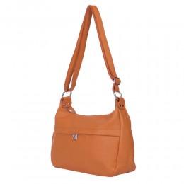 Чантата тип портмоне от естествена кожа Amelia, коняк