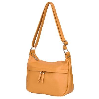 Чантата тип портмоне от естествена кожа Amelia, жълта