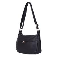 Чантата тип портмоне от естествена кожа Amelia, черна