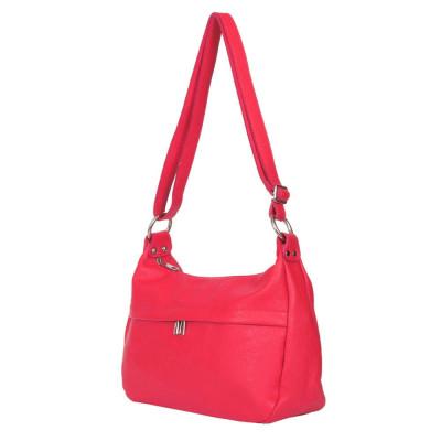 Чантата тип портмоне от естествена кожа Amelia, червена