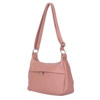 Чантата тип портмоне от естествена кожа Amelia, розова