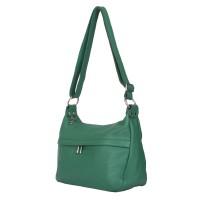 Чантата тип портмоне от естествена кожа Amelia, зеленa