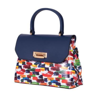 Кожена чанта тип портмоне Beatrice, синя