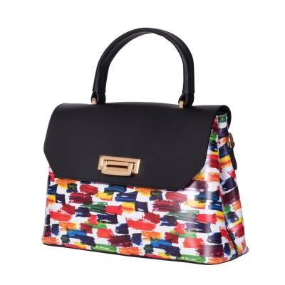 Кожената чанта тип портмоне Beatrice,черна