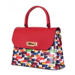 Кожената чанта тип портмоне Beatrice, червена