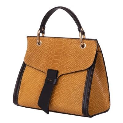 Чантата тип портмоне от естествена кожа Carisma, жълта