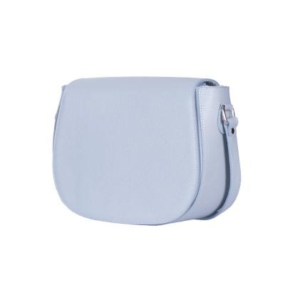 Кожена чанта тип портмоне Emma, светло синя