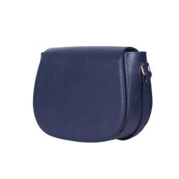 Кожена чанта тип портмоне Emma, тъмносиня