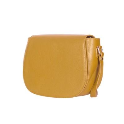 Кожена чанта тип портмоне Emma, жълта