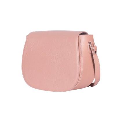 Кожена чанта тип портмоне Emma, розова