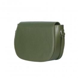 Кожена чанта тип портмоне Emma, зелена