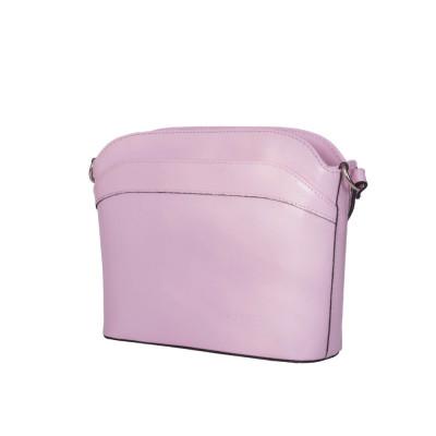 Чантата тип портмоне от естествена кожа Teresa, розова