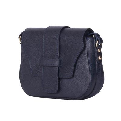 Чанта тип портмоне от естествена кожа Tracy, тъмносиня