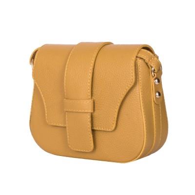 Чантата тип портмоне от естествена кожа Tracy, жълта