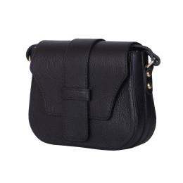 Чантата тип портмоне от естествена кожа Tracy, черна