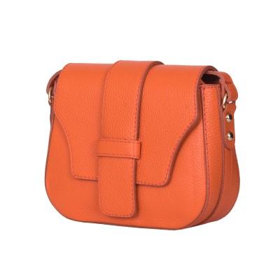 Чантата тип портмоне от естествена кожа Tracy, оранжева