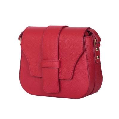 Чантата тип портмоне от естествена кожа Tracy, червена