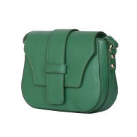 Чантата тип портмоне от естествена кожа Tracy, зелена