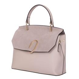 Чантата тип портмоне от естествена кожа Ruby, светло бежова