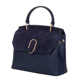 Чанта тип портмоне от естествена кожа Ruby, тъмносиня