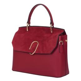 Чантата тип портмоне от естествена кожа Ruby, тъмно червена