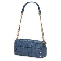 Дамска чанта тип портмоне от естествена кожа Selena, синя