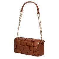 Дамска чанта тип портмоне от естествена кожа Selena, кафява