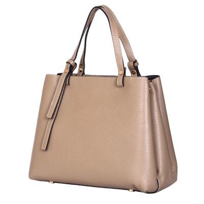 Чанта тип портмоне от естествена кожа Timeea, бежова