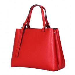 Чанта тип портмоне от естествена кожа Timeea, червена