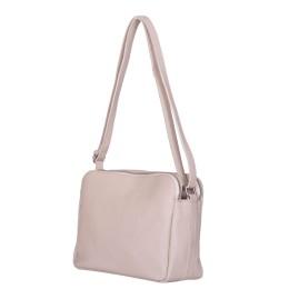 Чантата тип портмоне от естествена кожа Jessica, светло бежова