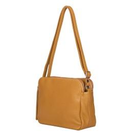 Чантата тип портмоне от естествена кожа Jessica, жълта