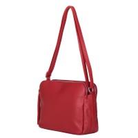 Чантата тип портмоне от естествена кожа Jessica, червена
