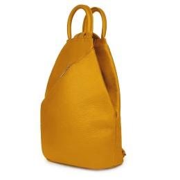 Раницата от естествена кожа Julio, жълта