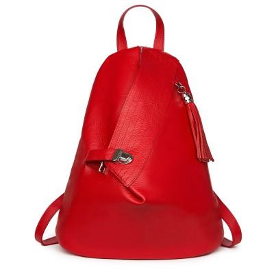 Дамската кожена раница Lido, червена