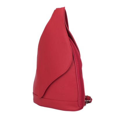 Раницата от естествена кожа Jordan, червена
